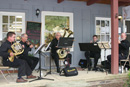 Musicians in front of Endeavors of Occoquan