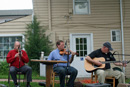 Musicians alongside the Coffee House of Occoquan