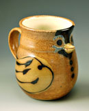 """Bird Mug"" by Marianne Cordyack of Reston, VA (salt-fired stoneware)"