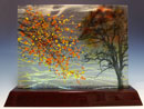 """Fall"" by David Barnes – Fused Glass"