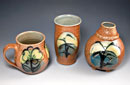 """Mug, Tumbler & Vase) by Marianne Corydack – Salt Fired Stoneware (Artists' Undertaking Gallery)"