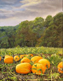 """Piedmont Pumpkin Patch"" by Steve Myles – Oil on Canvas"