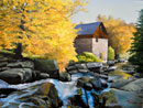 """The Mill Stream"" by Steve Myles – Giclee Reproduction on Canvas"