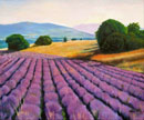 """Landscape with Lavender"" by Steve Myles – Oil Painting"