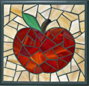 """Apple, light amber with black"" by Diann Root – Mosaic"