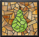 """Pear, amber with black"" by Diann Root – Mosaic"