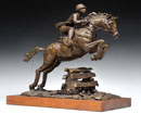 "Grace in Motion"", bronze with wood base, 14 x 14 x 8"" by Gwen Harrison Lockhart"