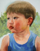 """James in Arms, oil, 11 x 14"" by Susan Lawrence Norman"