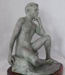 """What Will Be, Will Be"", 12""H x 8""W x 9""D, Terra Cotta"