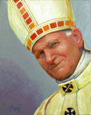"""Saint John Paul the Second"" by Roger Frey – Acrylic Painting"