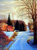 """Late Fall Snow"" by Steve Myles – Oil Painting"