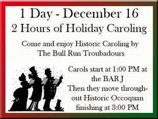 Christmas Caroling in Historic Occoquan