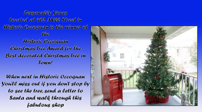 Sincerely Yours wins Historic Occoquan Christmas Tree Award