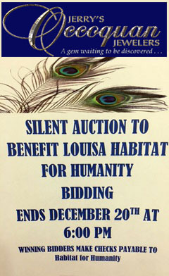 Jerry's Occoquan Jewelers Silent Auction