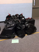 Occoquan donations bagged up