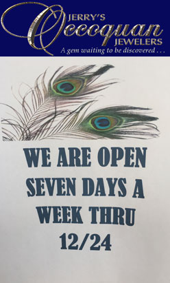 Jerry's Occoquan Jewelers open 7 days a week thr 12/24/2017