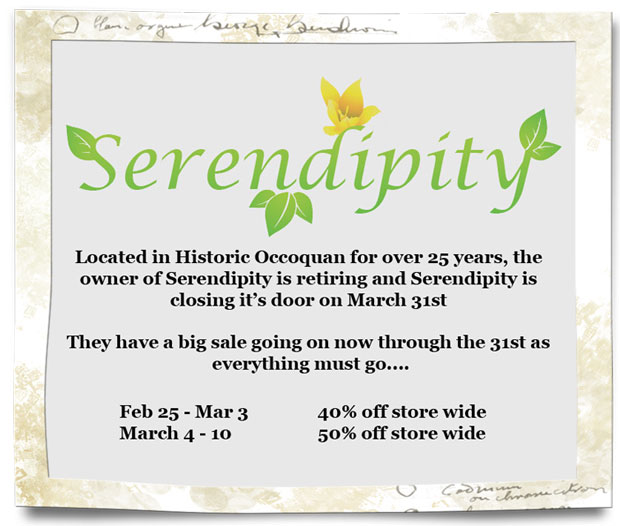 Serendipity is closing and having a sale