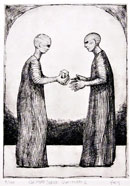 """Gesture Series #6"" by Roger Frey – Etching"