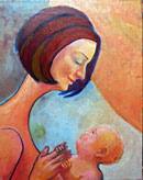 """Mother and Child"" by Roger Frey – Acrylic"