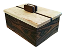 """Wooden Box"" by Jon Kaufman – made of Cherry, Spalted Maple and Ebony Woods"