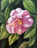 """Flower"" by Mary Rose Janya - Watercolor"