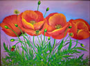"""Poppies"" by Tatiana Harr – Oil Painting"