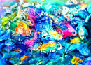 """School of Fish"" by Mary Rose Janya - Watercolor"