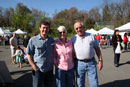 Occoquan Mayor, Earnie Porta, and residents at 1st Occoquan Farmer's Market